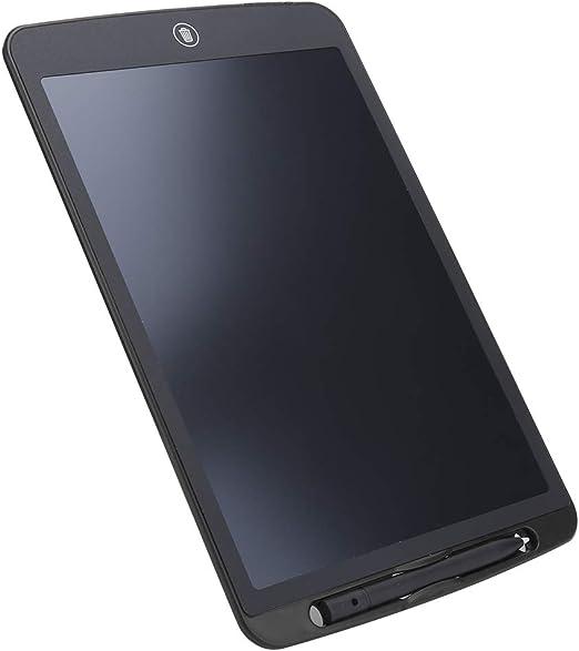 LEDバックライトなしポータブルで軽量のグラフィックタブレット、ABS素材150mAh LCDライティングボード、男の子/女の子用(black)