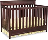 Delta Children Geneva 4-in-1 Convertible Baby Crib, Dark Chocolate