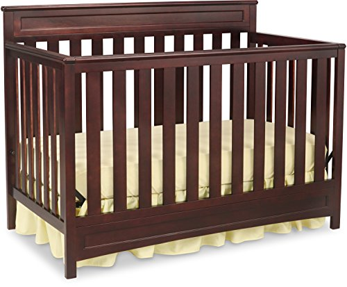 Delta Children Geneva 4-in-1 Convertible Baby Crib, Dark Chocolate