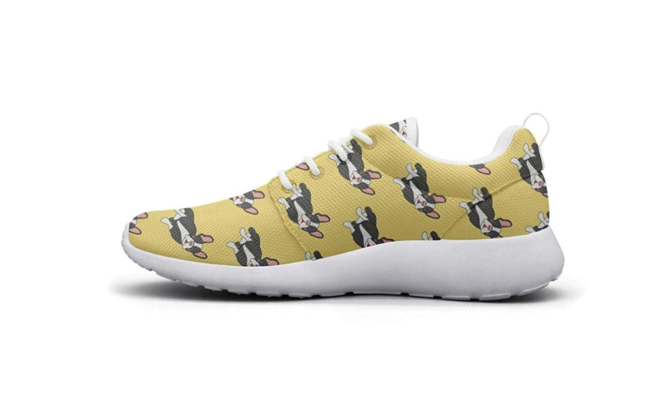 Year Of The Dog Pet Puppy Dalmation Pug Park Walking Shoes for Women Lo-Top Comfortable and Lightweight Best Running Shoes