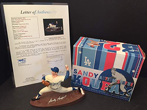 - Sandy Koufax Autographed Signed 2005 Dodgers Limited Edition Baseball Statue/Figure Sga JSA Authentic