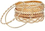 GUESS Basic Gold 7 Piece Mixed Bangle Bracelet