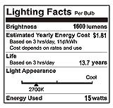 (4 Pack) LED GU24 A19 Light Bulbs 100 Watt