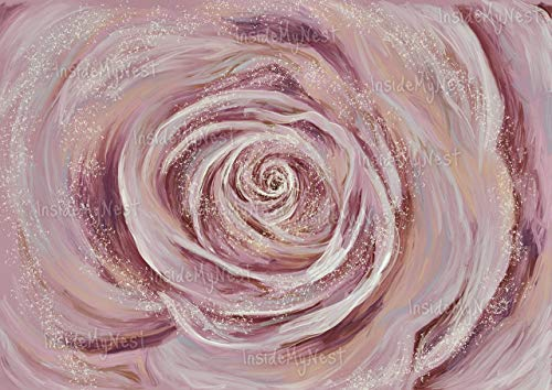 Art Blush - Rose Art Wall Decor Baby Girl Nursery Print Oil Painting Flower Floral Blush Vintage Art Deco Poster A3 16x11 Unframed