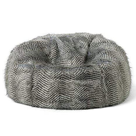 Icon Faux Fur Bean Bag Chair   Extra Large, 84cm X 70cm   Luxurious Furry  BeanBag Seat /(Rose Pink/) For Christmas