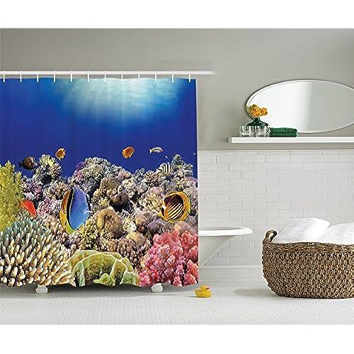 Coral bath accessories for Coral reef bathroom decor