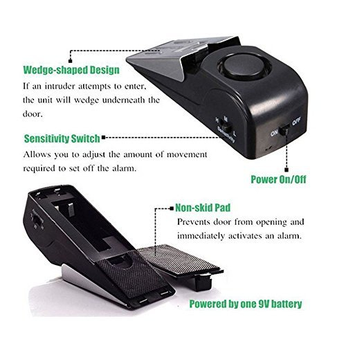 New Safety Tools for Home ,Door Stop Alarm Wireless Home Travel Security System Portable Safety Wedge Alert