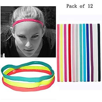 507232f80cf MAARYEE Multicolor Yoga Hair Bands Women Men Sports Headband Anti-slip  Elastic Rubber Sweatband Football