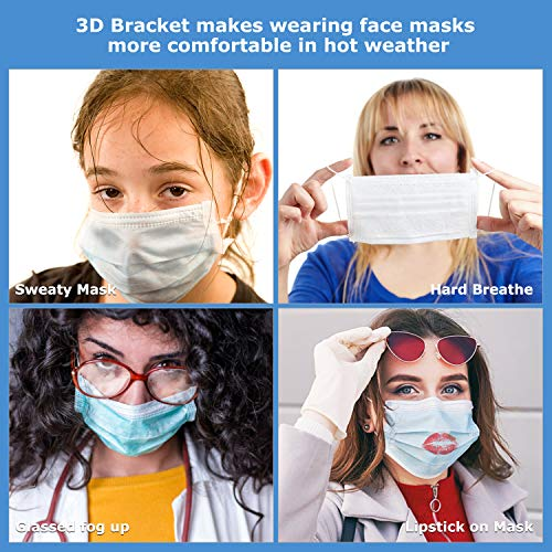 3D Face Mask Bracket Internal Support Frame for Smooth Breathing, Jisoncase Face Mask Inner Support Frame Lipstick Mask Protection Stand Mask Saver for More Breathing Space (3pcs)