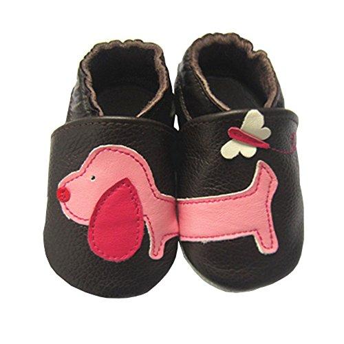 Vesi-Zapatos para bebé Primeros Pasos Zapatillas Infantiles para Niño/Niña Antideslizante Respirable Perrito Talla M:6-12 Meses Perrito