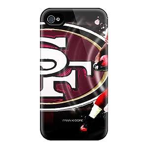 Apple Iphone 4/4s PKG21445VfVn Customized Realistic San Francisco 49ers Pattern Shockproof Hard Phone Cover -IanJoeyPatricia