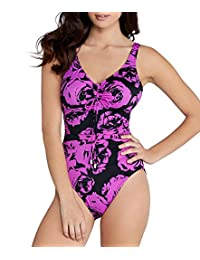 Magicsuit Womens Printed Clinch-Tie One-Piece Swimsuit