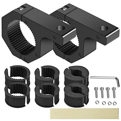 SUZCO 2-Pack Offroad Led Light Mounting Brackets Horizontal Bar Tube Clamp Kit 1/1.5/1.75/2, Heavy-duty Solid Aluminum Mount Roll Cage Roof Rack Holder for Off-road Jeep Truck UTV ATV Bumper Ford