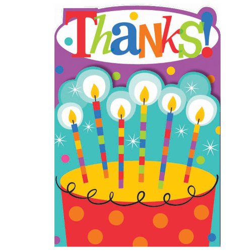 Dots and Stripes Birthday Thank-You Notes