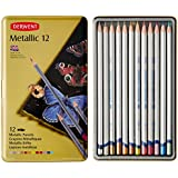 Derwent Metallic Watersoluble Pencils, 3.4mm Core, Metal Tin, 12 Count (0700456)