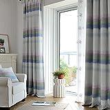 YouYee Cotton Linen Beautiful Blackout Window Elegance Curtain/drape/panel/treatment for Bedroom Living Room,100 x 106Inch,2 Panels,Top Grommets