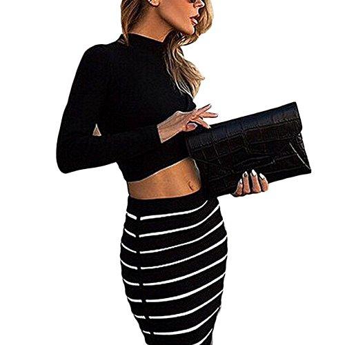 crop top pencil skirt set - 7