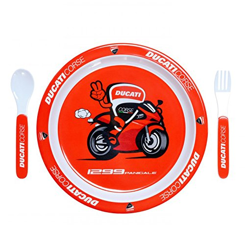 2018 Ducati Corse Children's Official Plate Set 25cm for Baby Toddler Kids Boys -