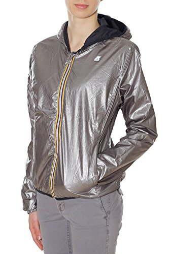 con reversibile double Mod K00850 silver Bianco plus cappuccio Donna K lily metal Black Way Giubbino oro 903 CEzxwtq