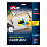 "Avery Matte White Ink Jet Labels, 3-1/3"" x 4, 120 per Pack (8254)"