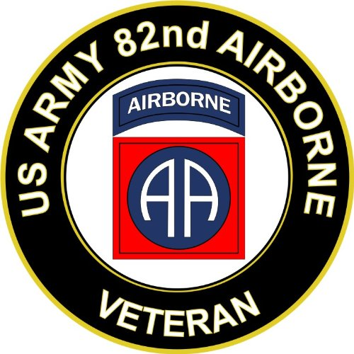 Military Vet Shop U.S. Army Veteran 82nd Airborne Window Bumper Sticker Decal 3.8