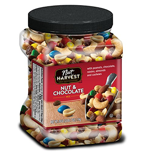 Nut Harvest Nut & Chocolate Mix, 39 Ounce Jar Candy Chocolate Dried Fruit