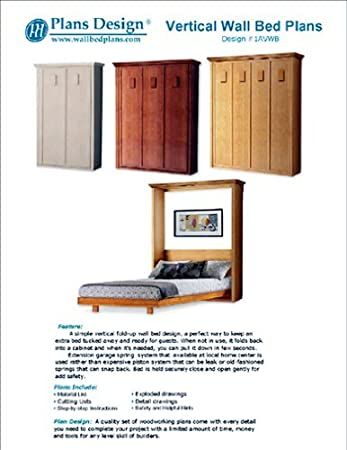 Low Cost Diy Murphy Wall Bed Frame Woodworking Plans King Queen Full And Twin Included 1avwb Amazon Com