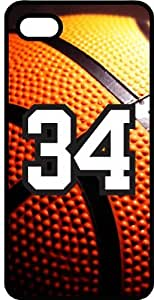 Basketball Sports Fan Player Number 34 Black Plastic Decorative iPhone 5c Case