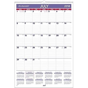 at a glance 2018 2019 academic year wall calendar large 15
