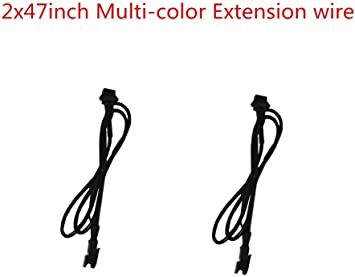 BT 4 Pcs 100cm Extension Cable Wire Cord Set for Motorcycle LED Glow Light Multi-color Neon Strip