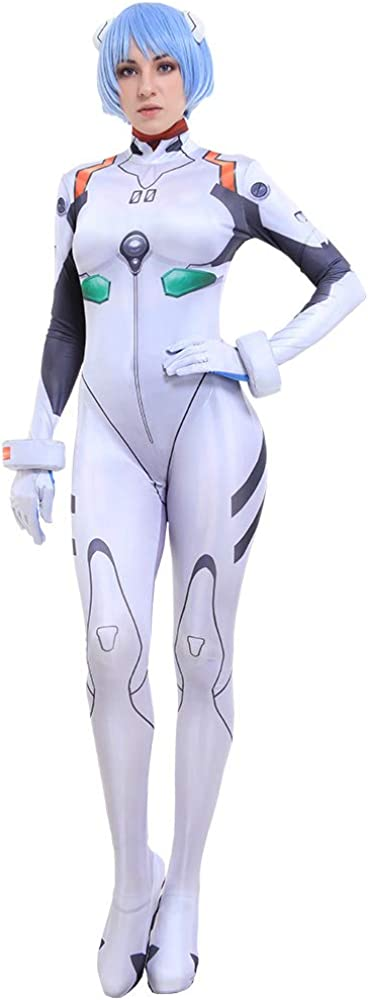 Cosplay.fm Women's Rei Ayanami White Suit Cosplay Costume