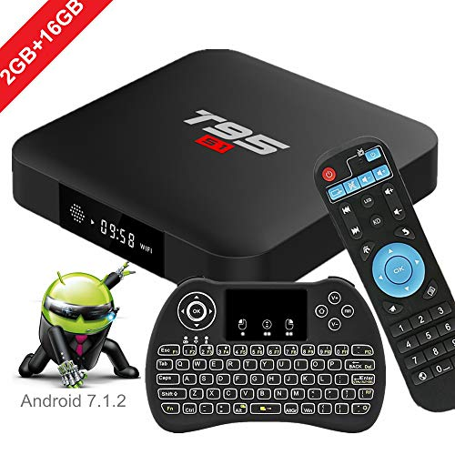 WISEWO Android 7.1.2 TV Box, 2GB/16GB Quad Core Processor Support 4K 3D Smart Android Boxes Media Player with Mini…