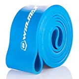 WinMax Resistance Bands for Pull-Up Assist & Powerlifting – SINGLE BAND (#5 Blue – 60 to 165 Pounds (2 1/2″4.5mm))