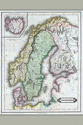 History Prints Scandinavia; Norway Sweden Finland Denmark Iceland; Antique Map, ()