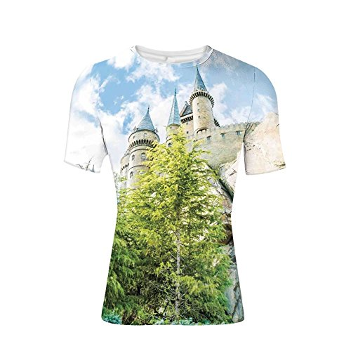 Devil Rays Wood - Tee Shirts Tops,Wizard Castle in Woods Replica in Japan Picture,Mens 3D Print