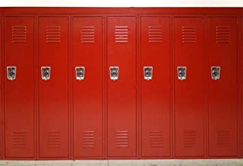 Amazon Com Aofoto 10x7ft Gym Red Metal Lockers Backdrop Vinyl High School Safety Locker Room Background For Photography Students Kids Adults Sports Photoshoot Props Vinyl Class Party Decoration Video Drape Camera