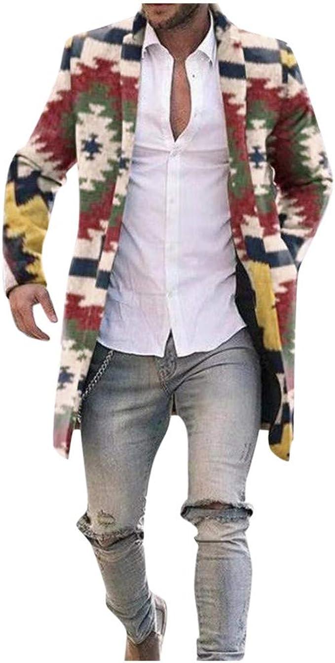 メンズ 千鳥格子 ロングコート カジュアル 冬 ファッション ウール ジャケット クラシック スリム アウター