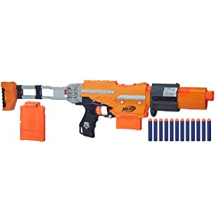 The customizable tool of destruction that is known as the NERF N-Strike  Recon CS-6 can easily be broken down to a pistol, close quarters rifle with  ...