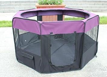 Kaka mall Parc à Chiot Enclos Pliable pour Chaton Chien Lapin Animaux de Compagnie (Taille XL: 61 * 99cm*8pcs/Dia:161cm) Violet