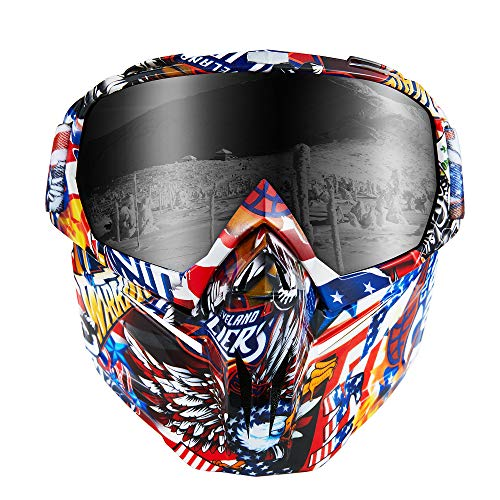ALCADAN Ski Goggles Mask - Over Glasses Ski/Snowboard Dust-Proof Goggles for Men, Women & Youth -...
