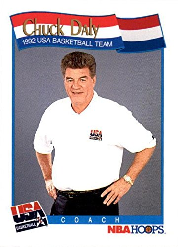 1992 Usa Basketball Dream Team - Chuck Daly Basketball Card (1992 USA Dream Team Coach) 1991 Hoops #585
