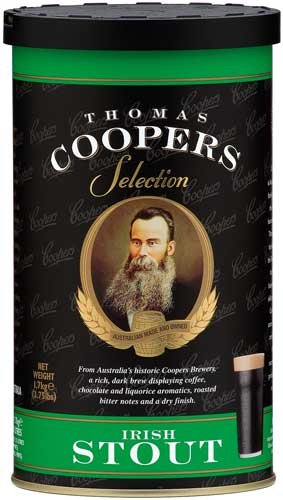 Complete Coopers Brewery Irish Stout Beer Kit Package