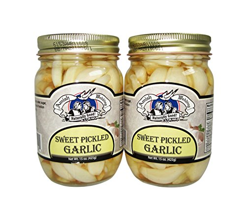 (Amish Wedding Foods Sweet Pickled Garlic 2 - 15 oz. Jars)