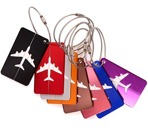 Ailiebhaus 8 colores etichette por valigie metal equipaje etiquetas de identificación etiquetas