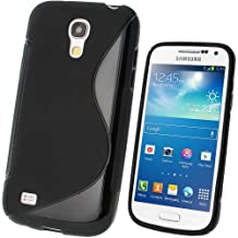 iGadgitz S Line Black Durable Crystal Gel Skin (TPU) Case Cover for Samsung Galaxy S4 SIV Mini I9190 I9195 Android Smartphone Mobile Phone + Screen Protector