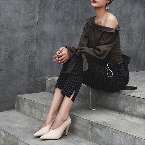 Haben Einzelne Schuhe Schuhe europäische Sandalette Amerikanische und Damenschuhe Zapfen Schuhe Heels und High DEDE xwqXqIz