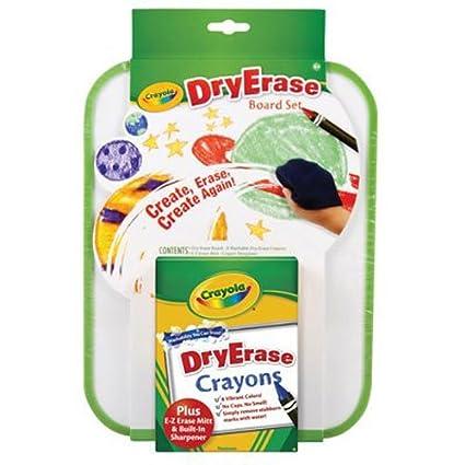 amazon com crayola dry erase board set toys games