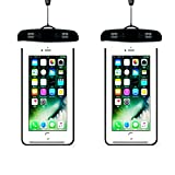 [2pack]Waterproof Case, iEugen Universal IPX8 Waterproof Phone Pouch Underwater Phone Case Bag for iPhone X/8/8P/7/7P, Samsung Galaxy S9/S9P/S8/S8P/Note 8, Google Pixel/LG/HTC up to 5.7″ -black Review