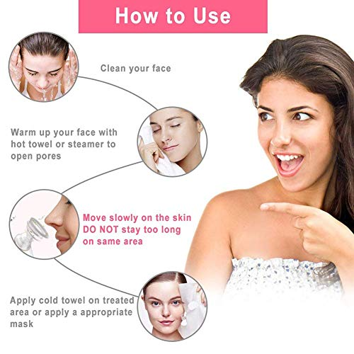 Facial Cleaning Instrument Skin Care Pore Cleaner Blackhead Remover Get Rid of Acne Oily Exfoliation for Household by RSTJPG (Image #4)