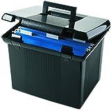 """Pendaflex Portable File Box, Black, 11""""H x 14"""" W x 11-1/8"""" D  (41742)"""